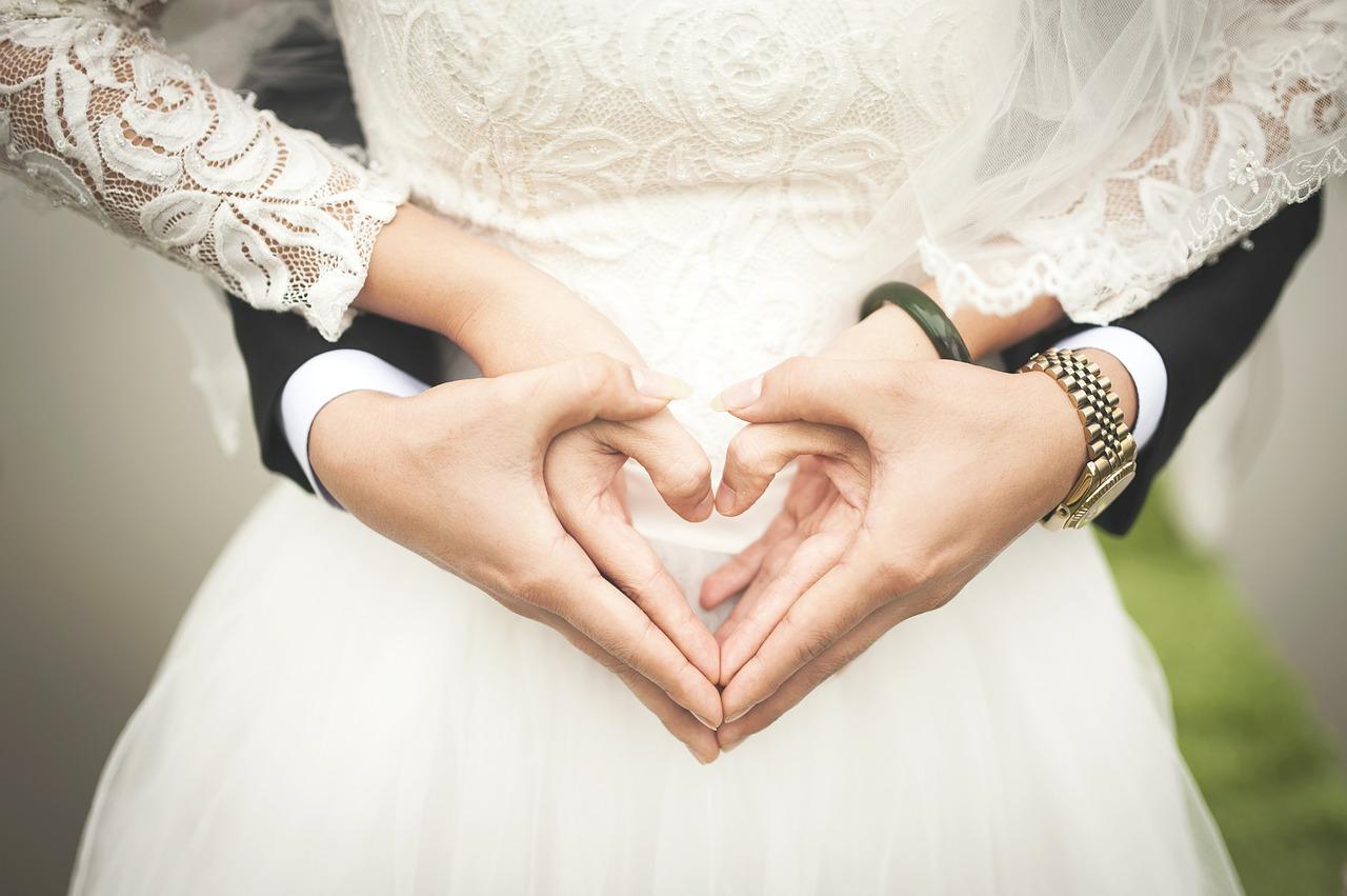 corazón boda